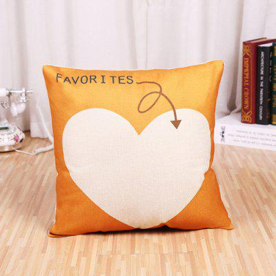 LAIMA Soft Pillowcase Heart Printed Square Pillow Cover