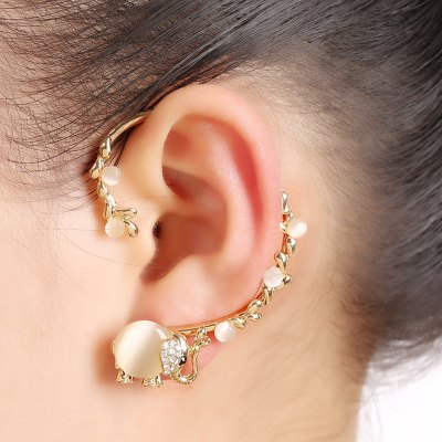 Fashionable Elephant Design Ear Cuff Clip Earrings