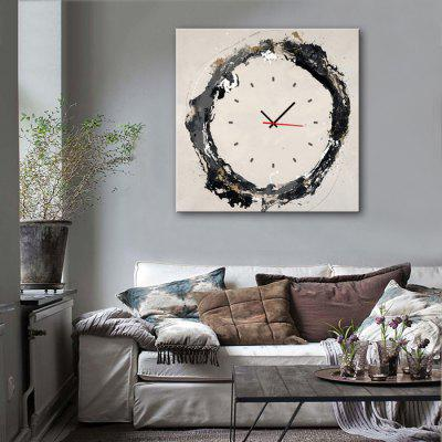 E - HOME Ink Circle Canvas Decorative Mural Wall Clock