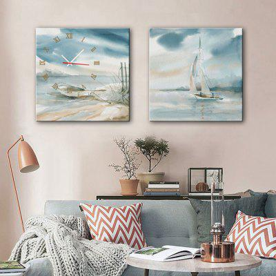 Buy E HOME Docked Boats Canvas Decor Mural Wall Clock 2PCS, COLORMIX, Home & Garden, Home Decors, Clocks for $29.71 in GearBest store