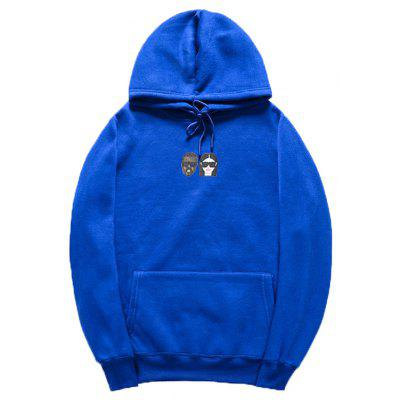 HZIJUE Cotton Long Sleeves Pullover Couple Hoodie