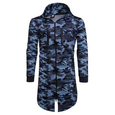 HD72 Camouflage Zip High Collar Thick Hoodie Jacket