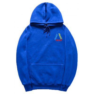 HZIJUE Men Palace Printed Letters Pullover Hoodie