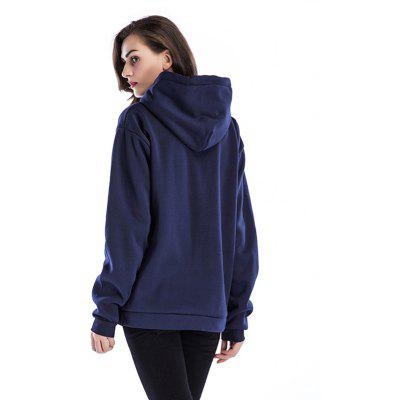 Women Pockets Joint Pullover Hoodie