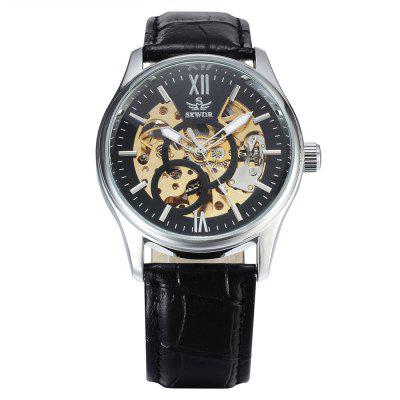 SEWOR SEW0R018 Leather Band Mechanical Men Watch
