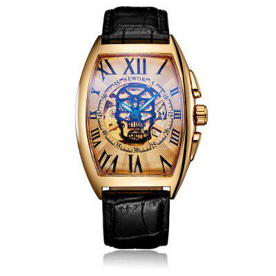 SEWOR SW036003 Leather Band Mechanical Men Watch