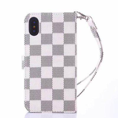Grid Pattern Skid-proof Bracket Case for iPhone X