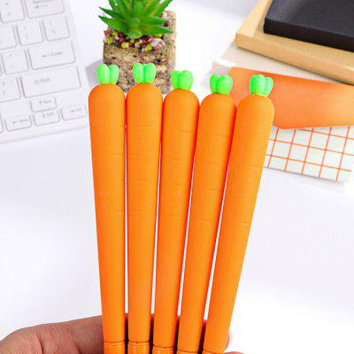 Cute Carrot Neutral Pen Writing Stationery 12PCS