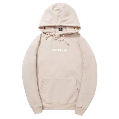 HZIJUE Male Trendy Casual Letter Printing Hoodie