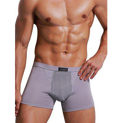 Buy GRAY 2XL HYD1436 Male Breathable Mid-waist Boxers Underwear for $8.77 in GearBest store