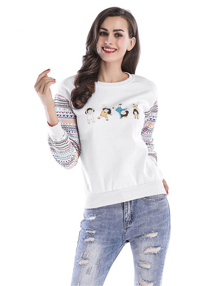 Women Thicken Ethnic Pattern Sweatshirt