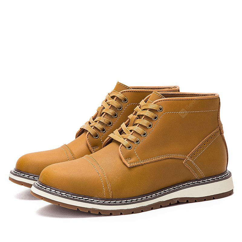 Male Classic Soft Breathable Ankle-top Casual Martin Boots