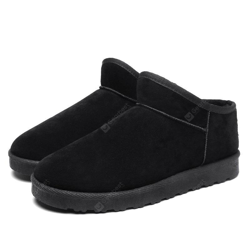Male Classic Soft Thicken Fur Ankle-top Snow Boots
