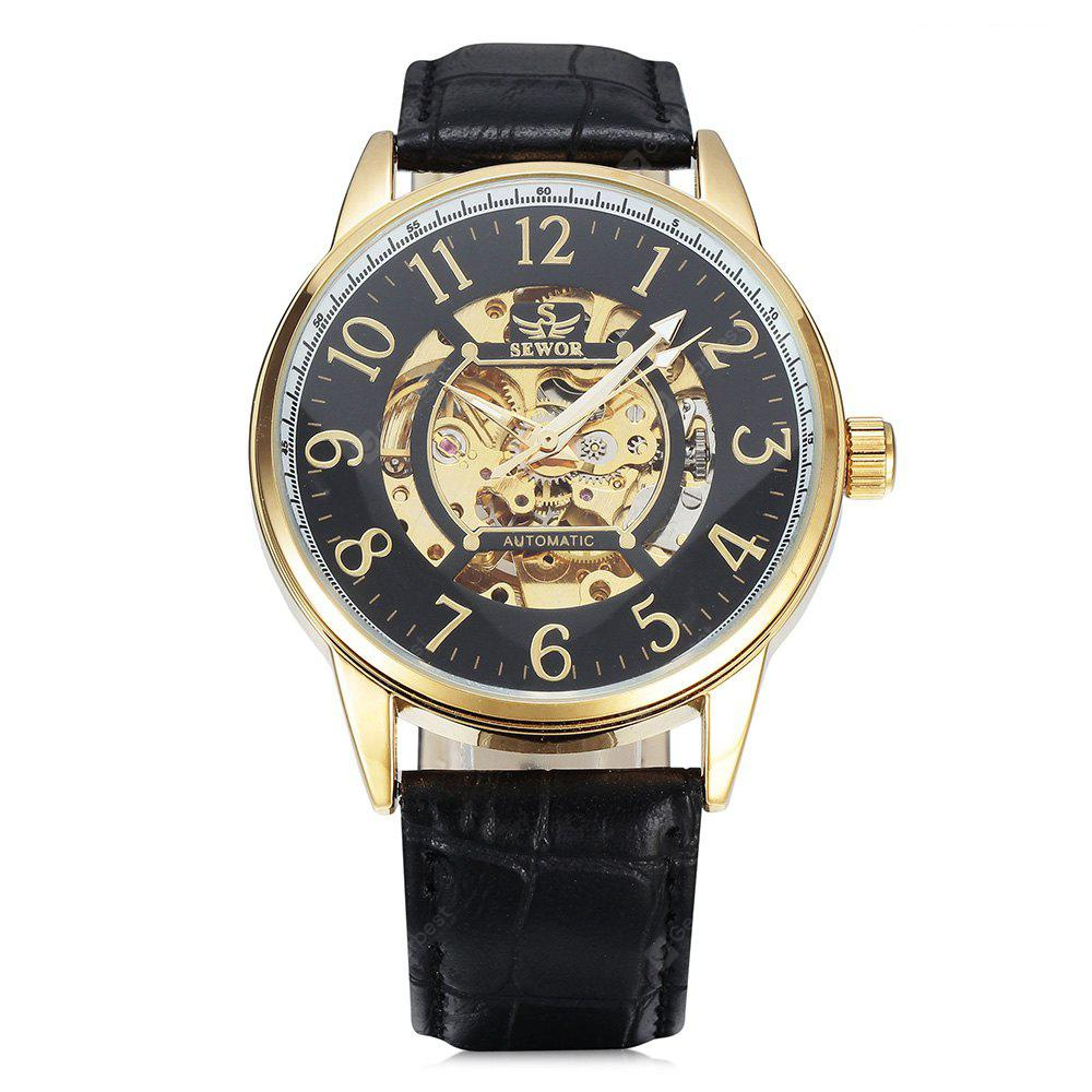 SEWOR SEW0R028 Leather Band Mechanical Men Watch