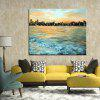 Mintura Modern Oil Painting Unframed Seaside City Wall Art - COLORMIX