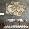 God Painting Modern Prints World Map Wall Art 4PCS - COLORMIX