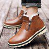Male Stylish Soft Warmest Fur Ankle-top Casual Snow Boots - BROWN