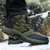 Male Versatile Outdoor Breathable Soft Fur Hiking Sneakers - ARMY GREEN