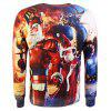 Male Creative Santa Printed Sweatshirts - COLORMIX