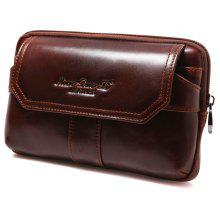 YUANFANVIP Men Soft Genuine Leather Cellphone Handbag