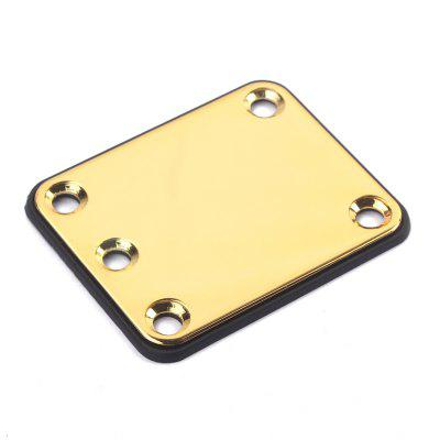 Electric Guitar Parts Neck Joint Plate Board Set with ScrewsGuitar Parts<br>Electric Guitar Parts Neck Joint Plate Board Set with Screws<br><br>Materials: Stainless Steel<br>Package Contents: 1 x Guitar Plate, 1 x Plastic Back Plate, 4 x Screw<br>Package size: 9.00 x 6.00 x 2.00 cm / 3.54 x 2.36 x 0.79 inches<br>Package weight: 0.0720 kg<br>Suitable for: Electric Guitar<br>Type: Plate