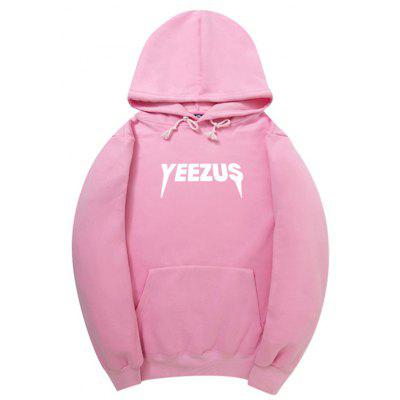 HZIJUE Loose Fashion Letter Printing Hoodie for Men