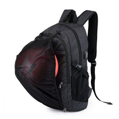 Buy Men Water-resistant Sports Backpack with USB Port, BLACK, Bags & Shoes, Men's Bags, Backpacks for $27.87 in GearBest store