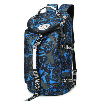 Men Printed Multifunctional Large Capacity Travel Backpack