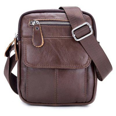 BULLCAPTAIN Men Casual Genuine Leather Shoulder Bag