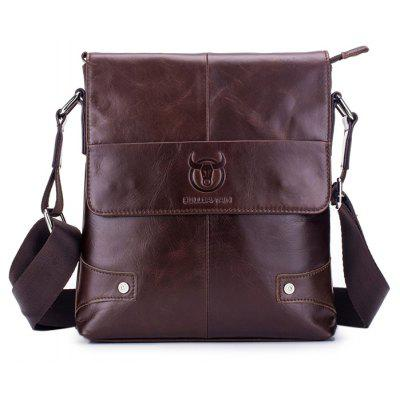 BULLCAPTAIN Men Business Leather Shoulder Bag