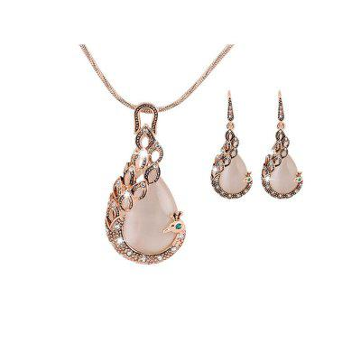 Buy Stylish Pendant Necklace Earrings Women Jewelry Set, BEIGE, Watches & Jewelry, Fashion Jewelry, Necklaces & Pendants for $2.60 in GearBest store