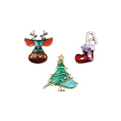 Broche Criativo de Animal e Natal Unisex 3PCS