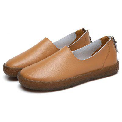 Female Soft Lightweight Low-profile Casual Leather Loafers