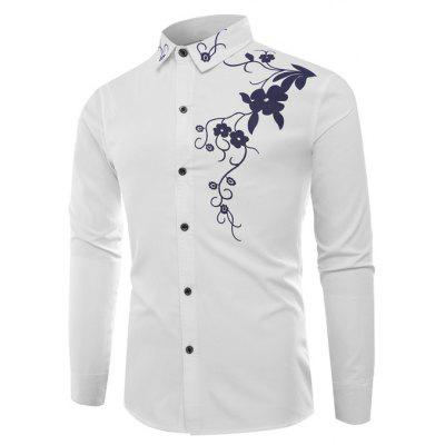 Men Long Sleeves Slim Shirt