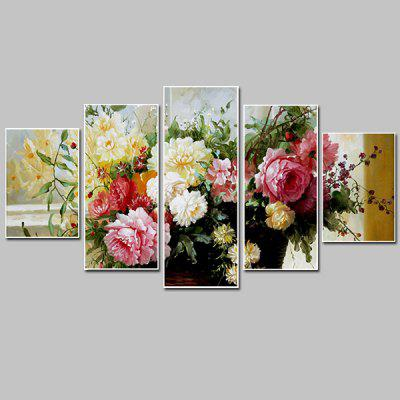 Buy COLORMIX Colorful Flowers Pattern Frameless Canvas Print Painting 5PCS for $38.73 in GearBest store