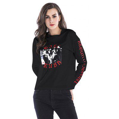 Female Classic Soft Solid Sleeve Loose Pullover Sweatshirt