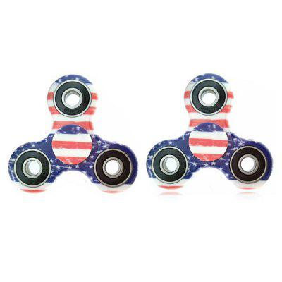 Cute Star and Line Pattern Fidget Tri-spinner Gyro Toy 2pcs