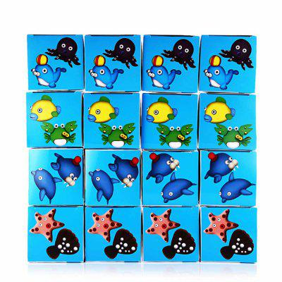 Aquatic Creature Theme Resin Clay Mud 16pcs