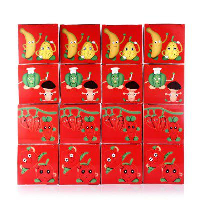Fruit Vegetable Theme Resin Clay Mud Toy 16pcs