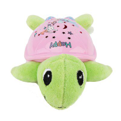 Cartoon Turtle with Starry Projection Function Toy