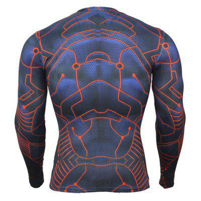 Tight 3D Pattern Printed Long Sleeves T-shirt for Menweight lifting clothes<br>Tight 3D Pattern Printed Long Sleeves T-shirt for Men<br><br>Features: Breathable, High elasticity, Quick Dry<br>Gender: Men<br>Material: Polyester, Spandex<br>Package Content: 1 x T-shirt<br>Package size: 35.00 x 30.00 x 2.00 cm / 13.78 x 11.81 x 0.79 inches<br>Package weight: 0.2000 kg<br>Product weight: 0.1800 kg<br>Types: Long Sleeves