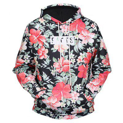 Mr 1991 INC Miss Go Floral Printing Christmas Hoodie