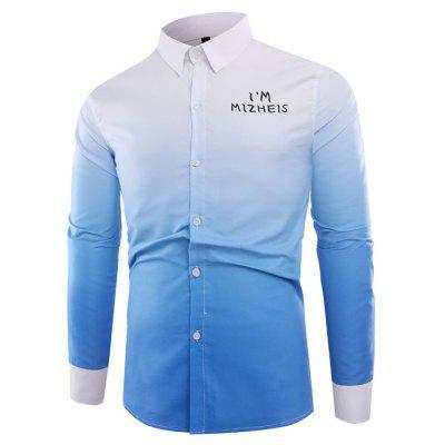 Classic Ombre Long Sleeve Shirt