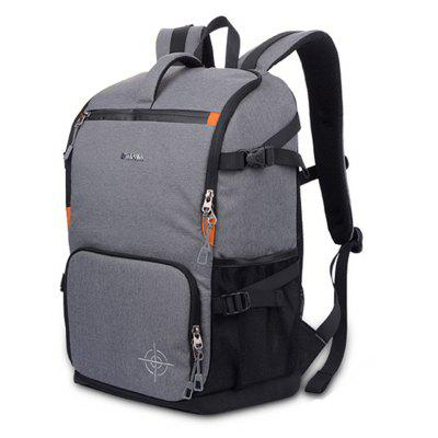 Buy Stylish Water-resistant Nylon Camera Backpack, GRAY, Bags & Shoes, Men's Bags, Backpacks for $36.75 in GearBest store
