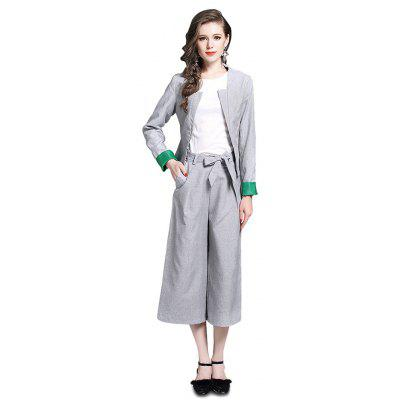Women Fashionable Loose Pants Three-piece Suits
