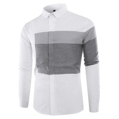 Simple Asymmetric Splicing Shirt