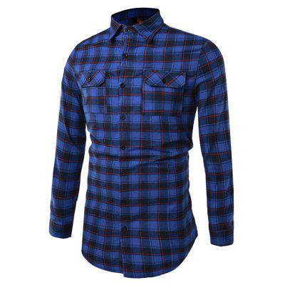 Fashion Printing Checked Shirt