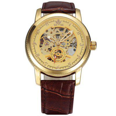 SEWOR SEW0R012 Leather Band Mechanical Men Watch