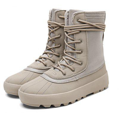 Buy Men Casual Lace-up High Boots, KHAKI, 43, Bags & Shoes, Men's Shoes, Men's Boots for $25.03 in GearBest store
