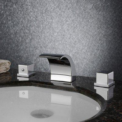 MLFALLS M1011CW Chrome Waterfall Bathroom Sink Faucet